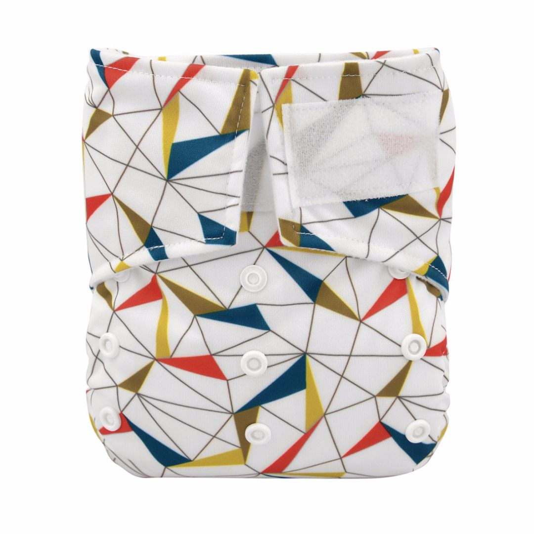 Baby Reusable Simple Lines Velcro Pocket Diaper, 20% discount @ PatPat Mom Baby Shopping App