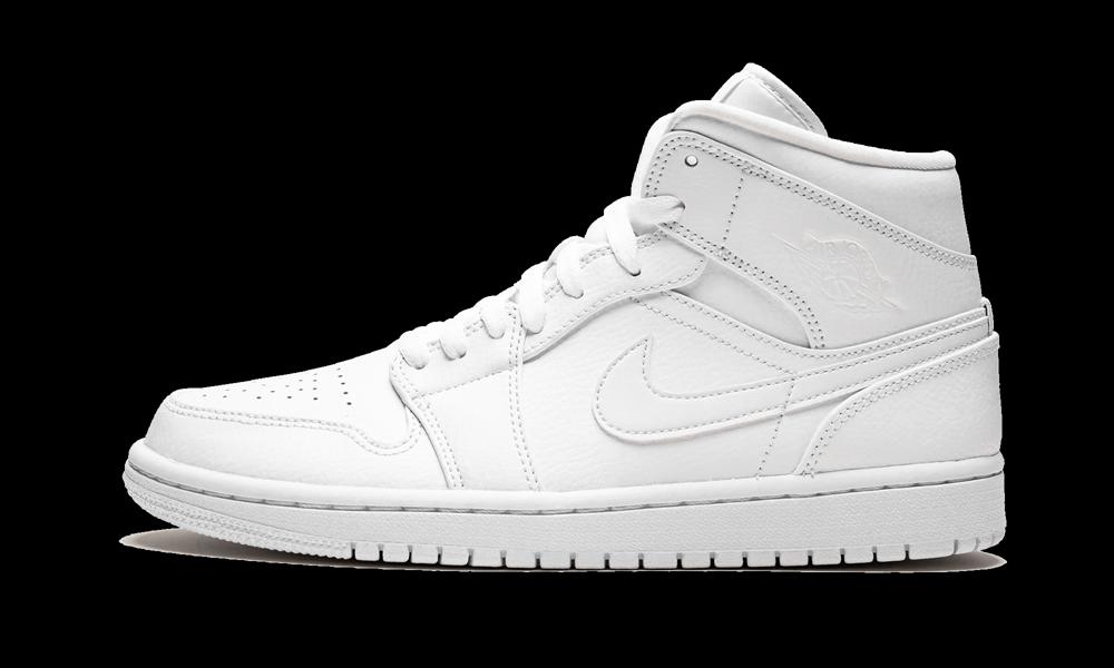 Air Jordan 1 Mid Triple White 554724 129 2021 Air Jordans Jordan 1 Mid Jordan 1 White