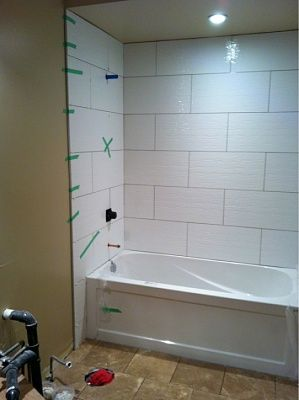 Complete Re Do Of My 80 Main Bath Let The Demo Begin White Bathroom Tiles Shower Wall Tile Large Shower Tile