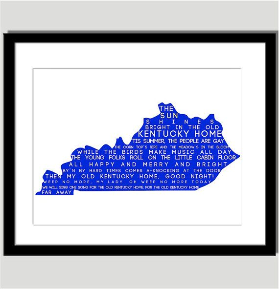 Old Kentucky Home Typography Print  Can Do Any by CoCoStineDesigns, $15.00