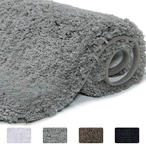 Amazon Com Lifewit Bathroom Rug Bath Mat Non Slip Rubber Microfiber Soft Water Absorbent Thick Shaggy Floor Mats Machine Bath Rugs Bathroom Rugs Shower Rugs