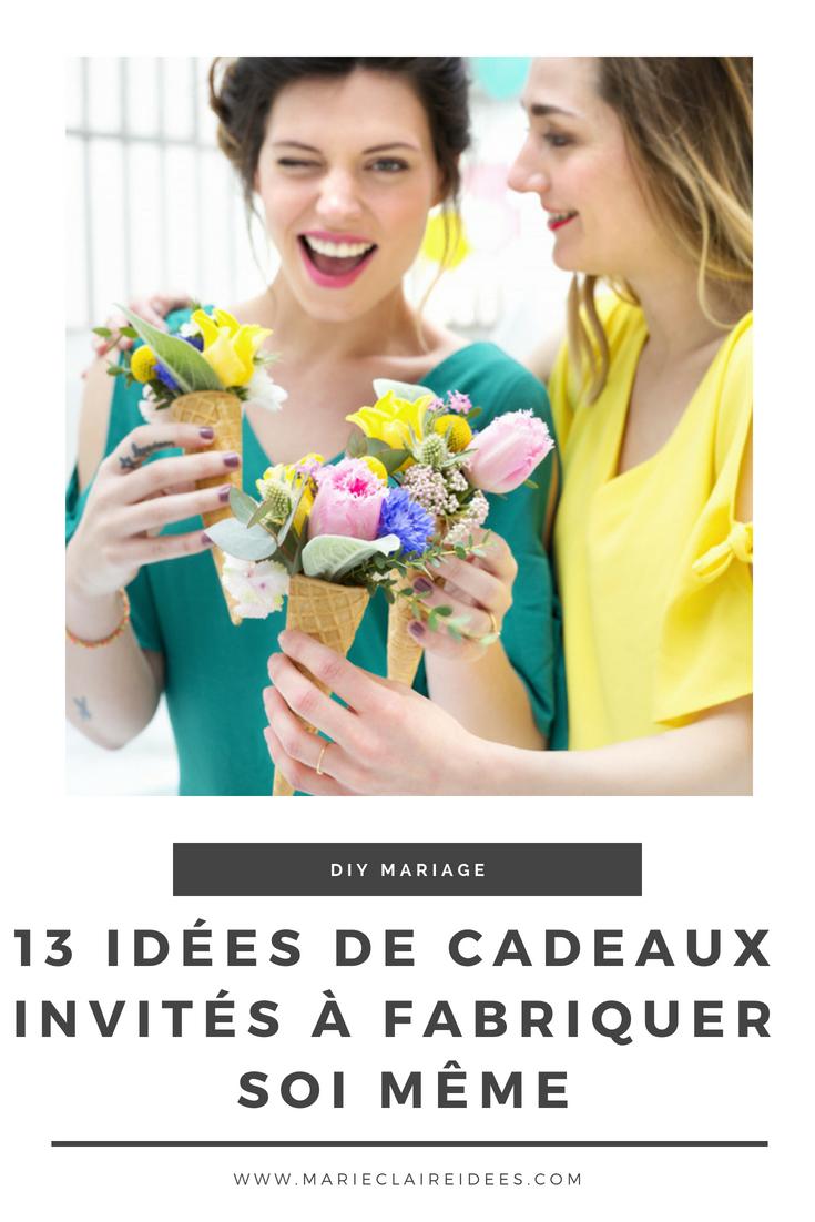 Cadeaux d invités de mariage 13 idées  fabriquer soi mªme