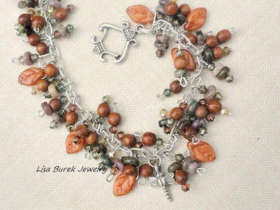 ThinkArt Loud - Wearable Wednesday: Lisa Burek Jewelry; Earth tone beaded bracelet by Lisa Burek Jewelry