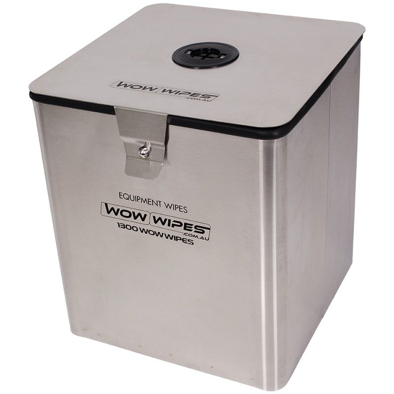 Gym Wipes Dispenser Wall Mounted Square Stainless Steel Salle