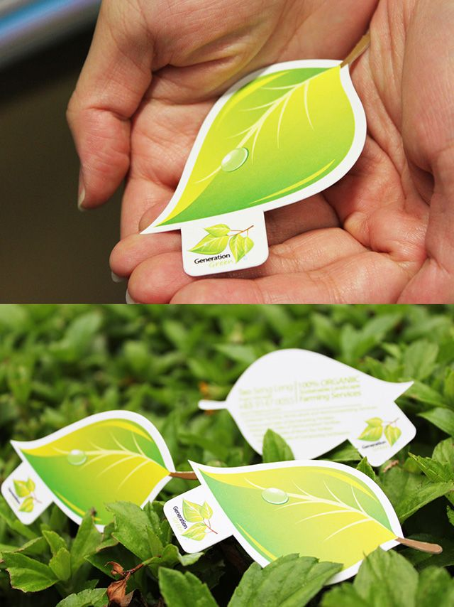 Incredible 3D green logo and business card design, a branding concept done by Lemongraphic.