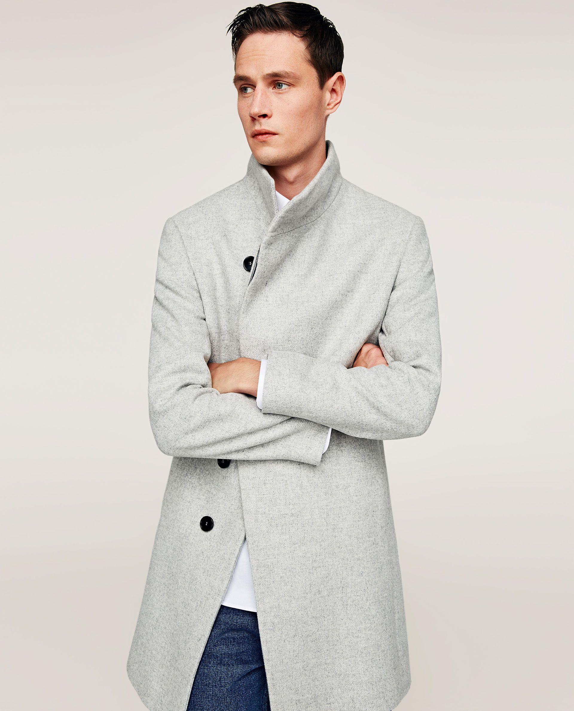 Abrigo gris claro zara