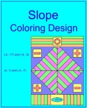 This Is A Coloring Activity On Finding The Slope Of Two Points For 16 Problems Students Will Color Picture According To Correct Answer Each