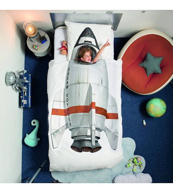 Snurk Beddengoed Dekbedovertrek Rocket 240x200/220 incl 2 kussenslopen 60x70cm - wonenmetlef.nl
