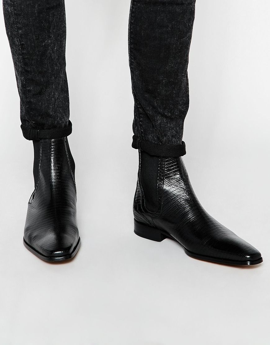 0ff5344d0b3 Like this we have more Jeffery West Leather Iguana Chelsea Boots - Black -  http