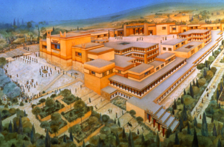 Minoan Palace of Knossos Reconstruction | Integrated Liberal Studies 203 > Rosenmeyer > Flashcards > Lecture 3 ...