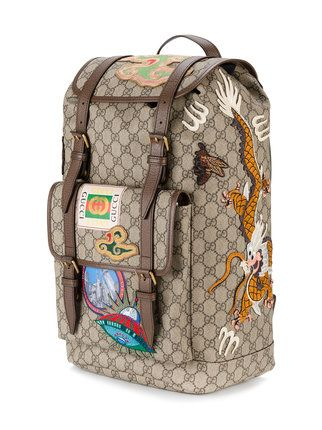 Gucci multi-patch GG backpack   him en 2019   Gucci, Bags et Backpacks ec67e3bb607