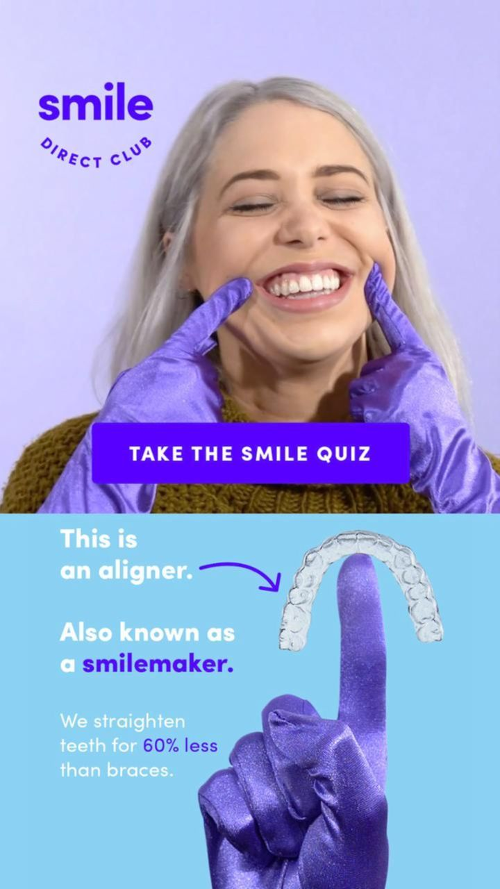 Straighten your smile from home for just 80mo teeth
