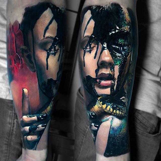 Valentina Riabova Val Tatboo Instagram Photos And Videos In 2020 Tattoo Styles Body Art Tattoos Portrait Tattoo