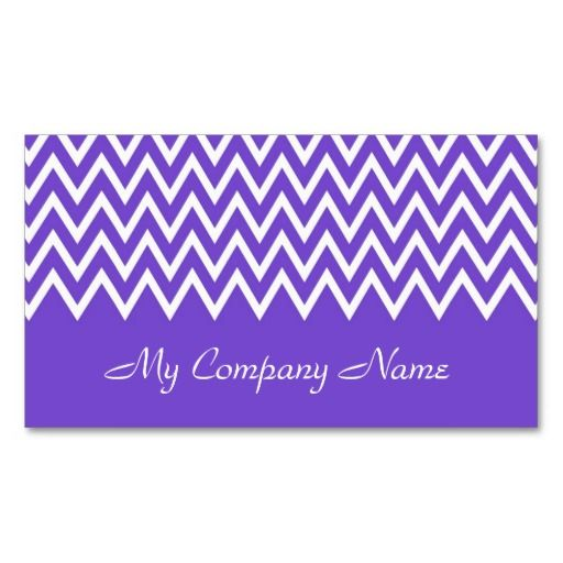 Zigzag On Purple - Business Cards