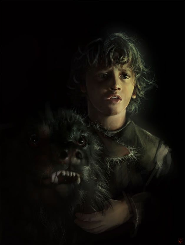 Little Rickon and Shaggydag Game of Thrones