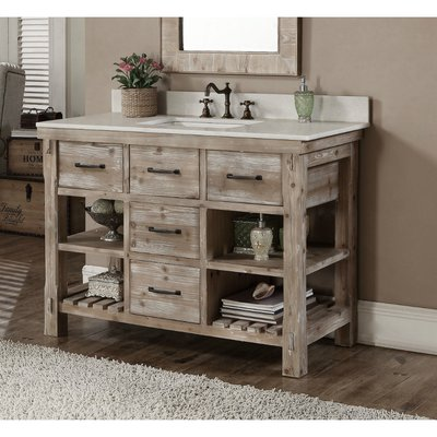 Laurel Foundry Modern Farmhouse Clemmie 49 Single Bathroom Vanity
