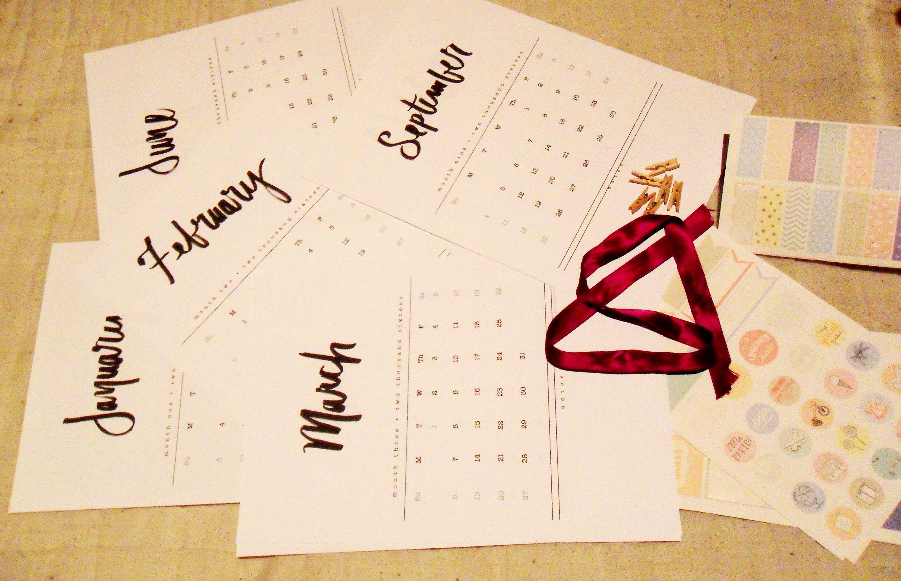 2016 calendar printable hola chiquita el fin de semana y ya estoy 2016 calendar printable solutioingenieria Choice Image