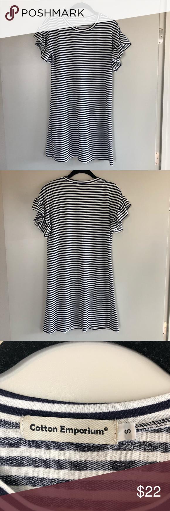 Max Studio Weekend Stripe Sweatshirt Dress NWT