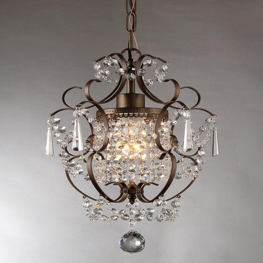 Null rosalie 11 in antique bronze indoor crystal chandelier antique bronze indoor crystal chandelier rl4025br the home depot arubaitofo Images