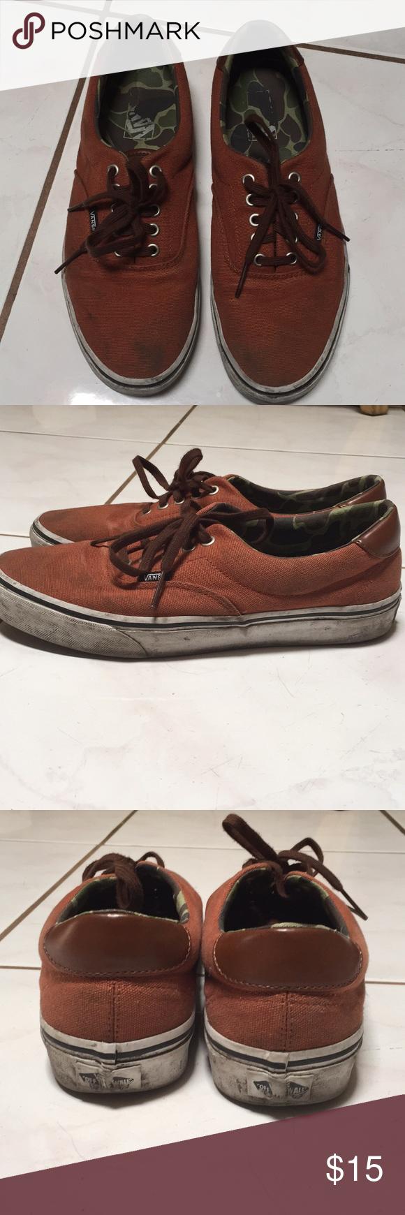 Men s Vans Authentic Shoes Men s Vans Authentic Shoes Size 9.5 Used Brownish Orange  Vans Shoes Sneakers c2867b49f
