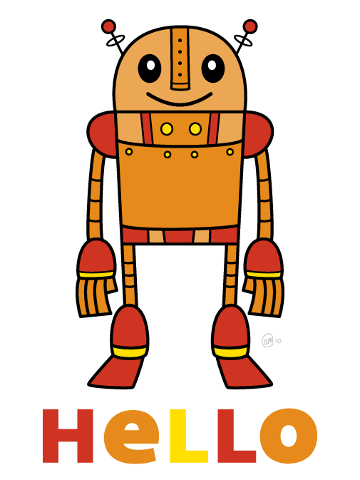 art_the_robot_hello_505.png (505×673)