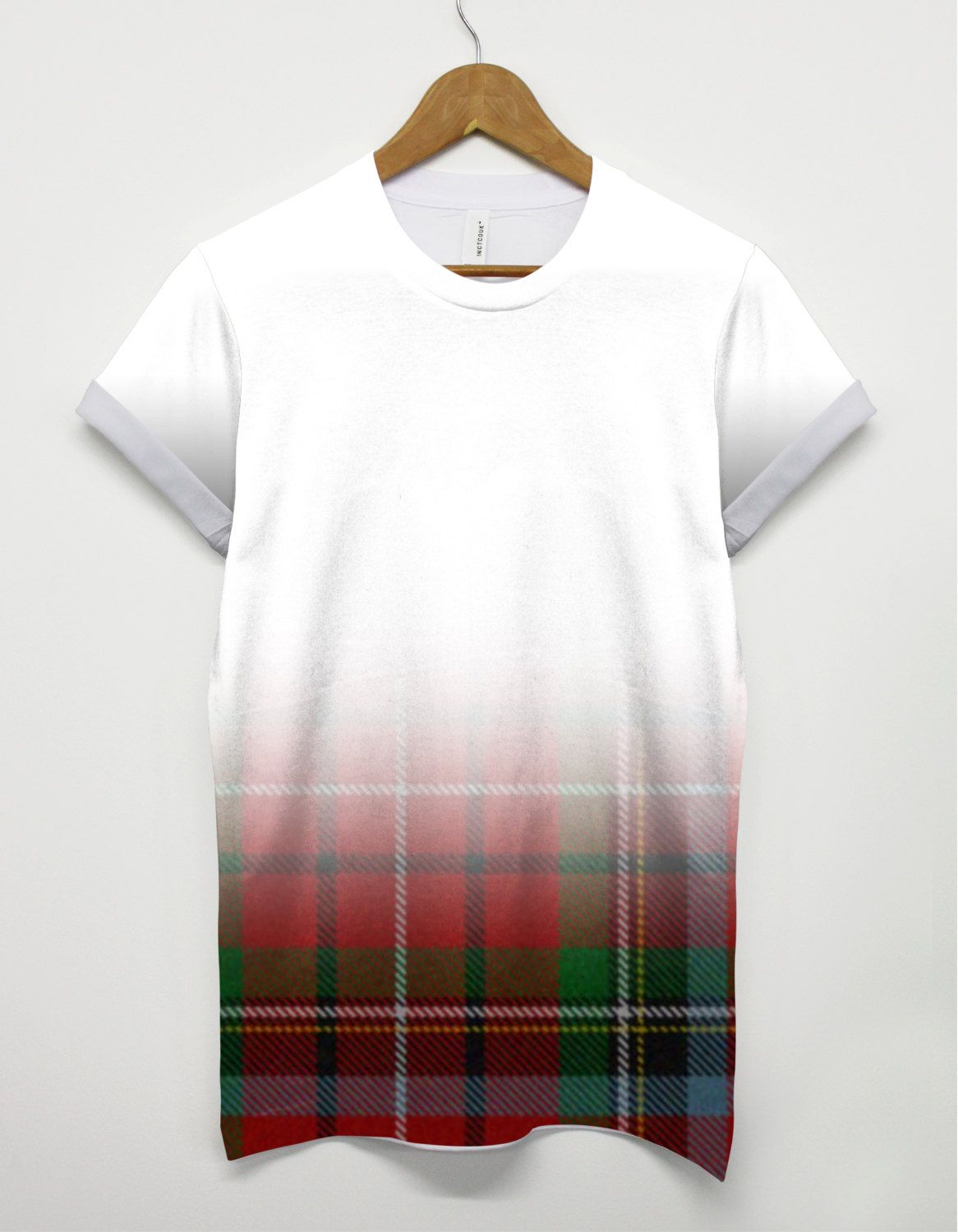 T shirt design quick delivery - Inct Tartan Faded All Over Fashion Printed Tshirt Hipster T Shirt Swag Brand New