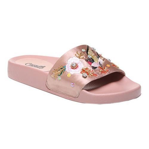 e1e3fce04a97 Carlos by Carlos Santana Women s Catarina Slide Blush Satin Fabric ...