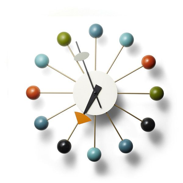 Vitra Nelson Ball Clock 395 Liked On Polyvore Featuring Home Home Decor Clocks Multicolor Ball Wall Clock Nelson Ball Clock Clock Colorful Wall Clocks