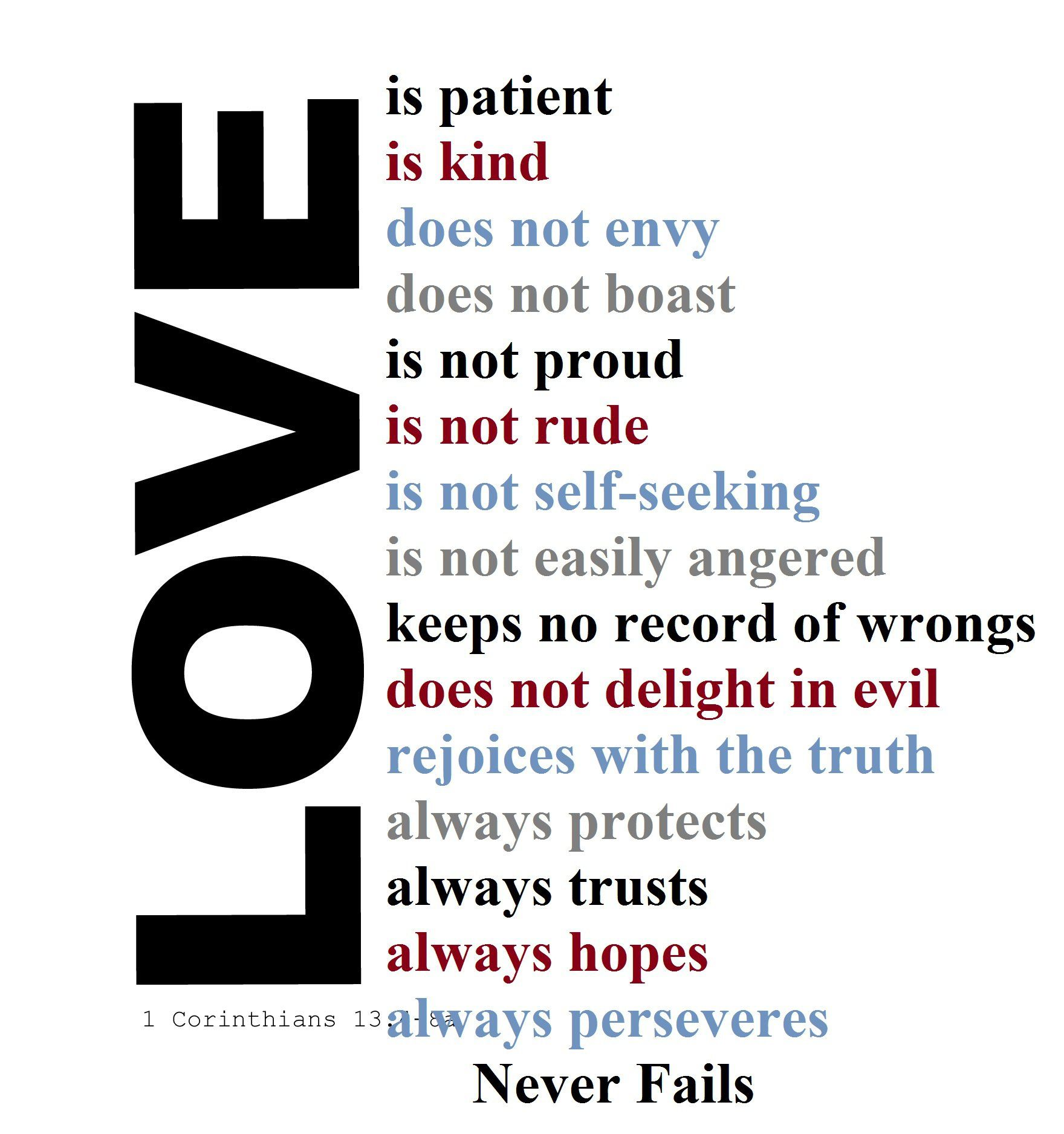 """Love Is Patient Love Is Kind"" Bible Verse Analysis """