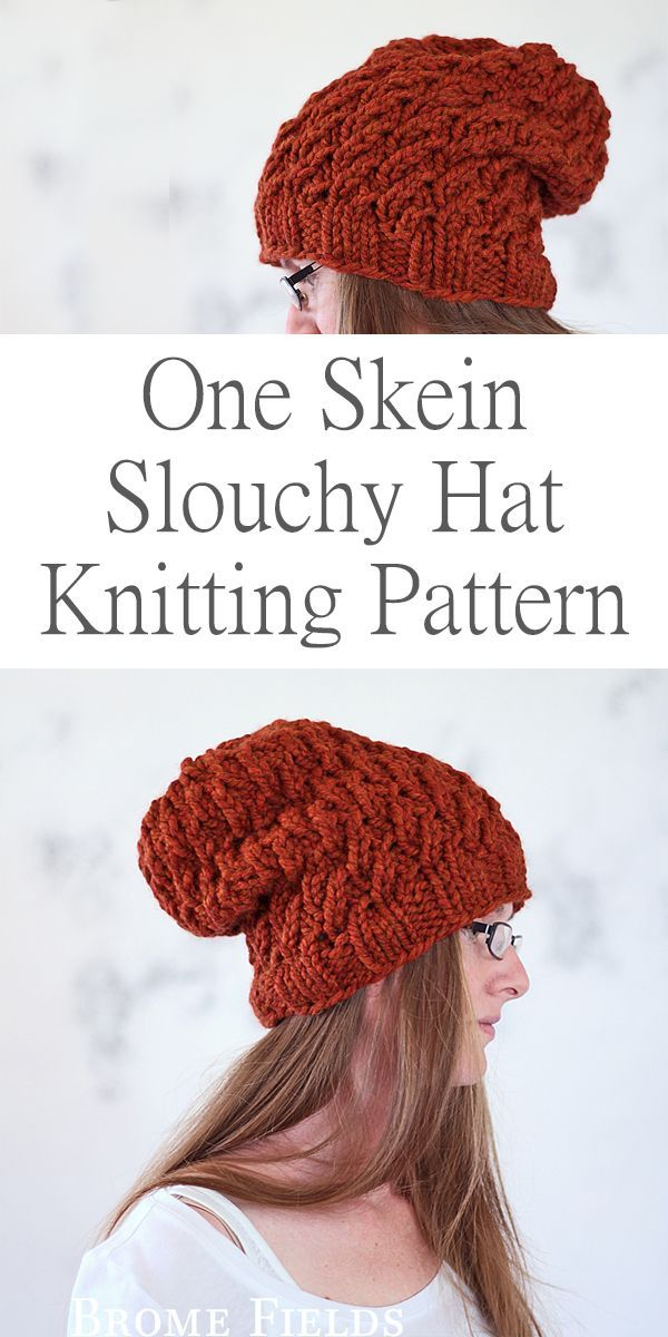 One Skein Hat Knitting Pattern : Dignity by Brome Fields | gorros ...