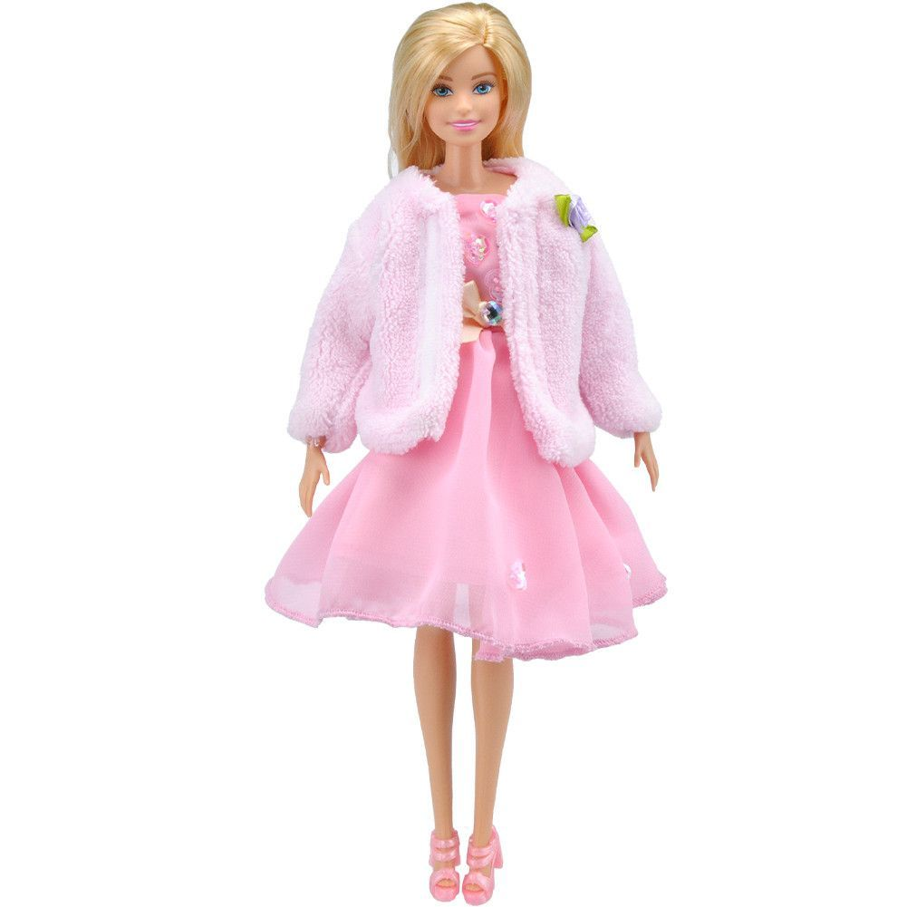 E-TING Handmade Winter Coat Doll Clothes Gown for Barbie Doll ... e512b9dfb