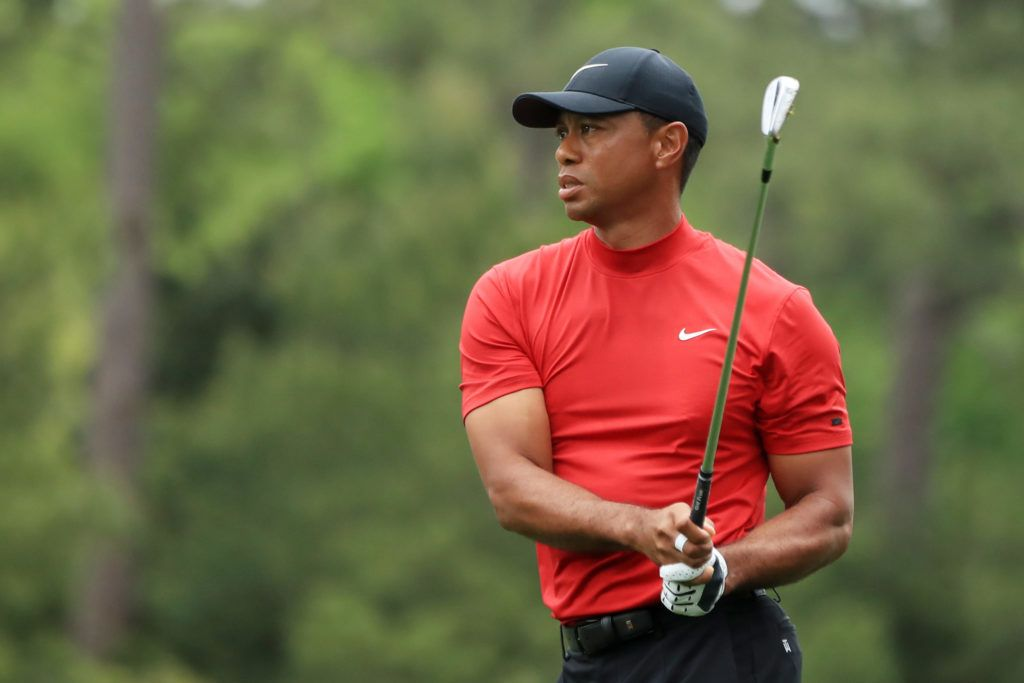 Photos Tiger Woods Outfit At The Masters Today Is Awesome With