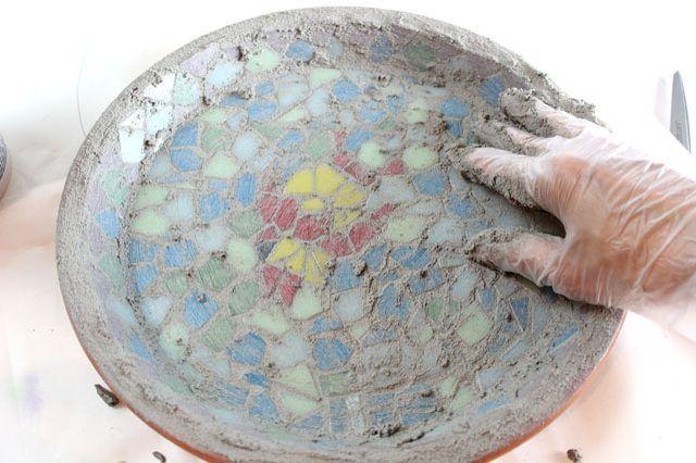 How to Make a Homemade Mosaic Bird Bath