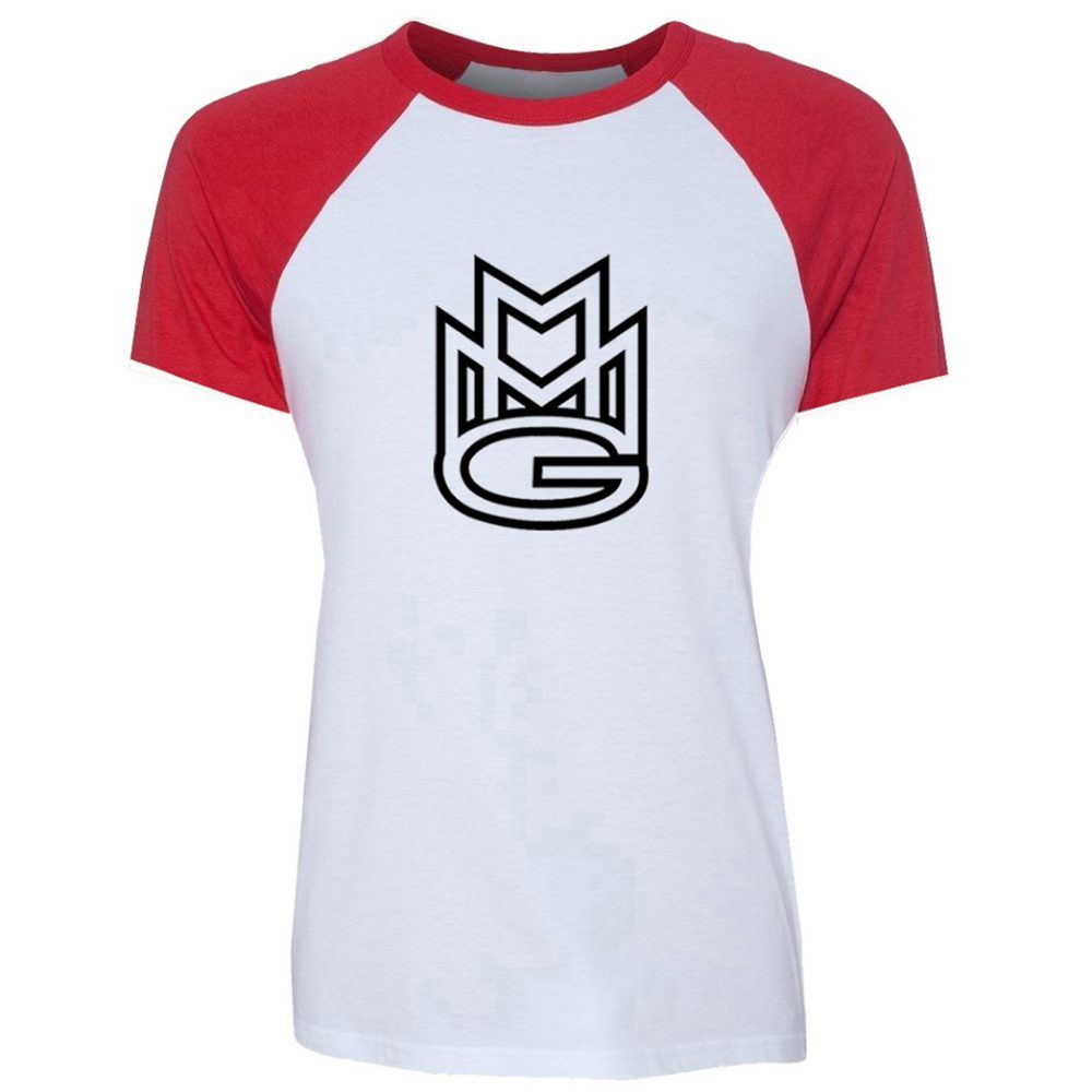 8530e01faf7b Women s MMG Maybach Hip Hop Music Group Rick Ross Pattern Raglan Short  Sleeve T Shirt Loose Red Black Tee Shirts for Lady Girl Price  31.85  tees