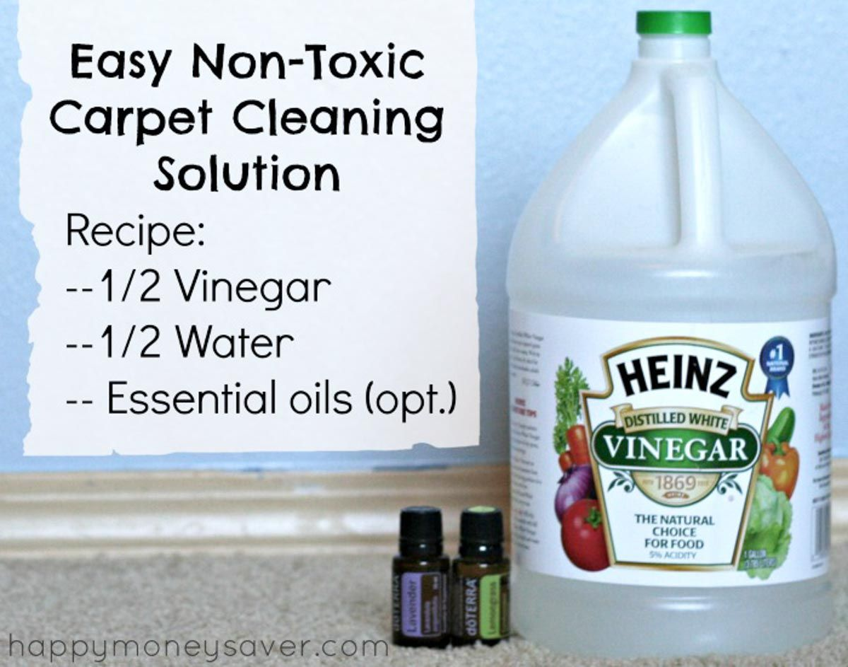 This Non Toxic Homemade All Natural Carpet Cleaner