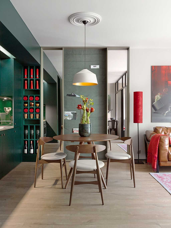 Un Deux Pieces Bien Exploite A Kiev Planete Deco A Homes World Appartement Design Decoration Maison Mobilier De Salle A Manger