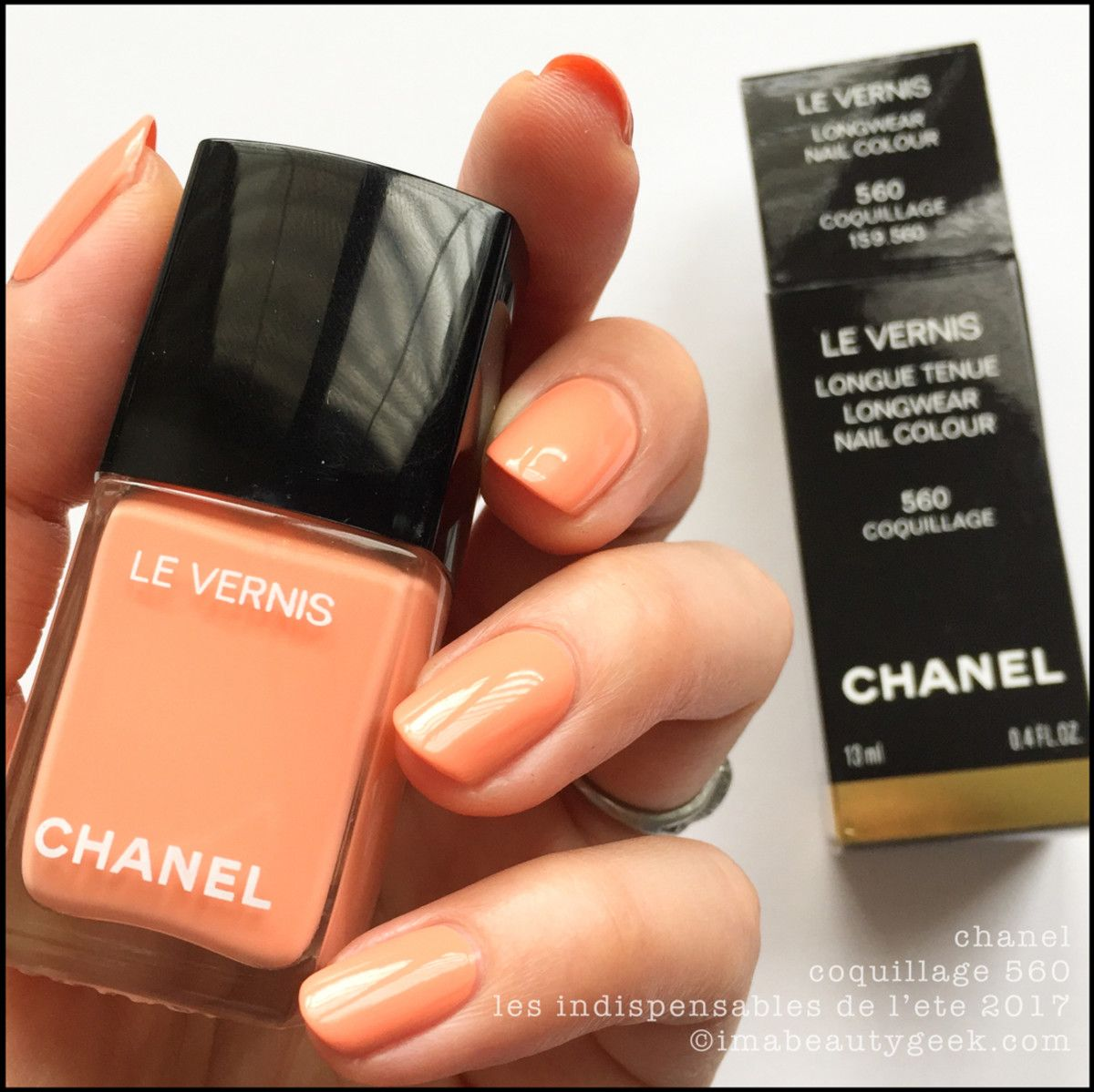 bb0bd206afb Chanel Coquillage 560 – Chanel Cruise 2017 Summer Collection Chanel Nail  Polish