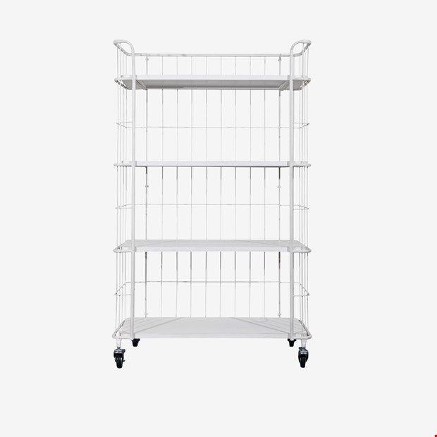vtwonen stock trolley large wit metaal hout afbeelding 1