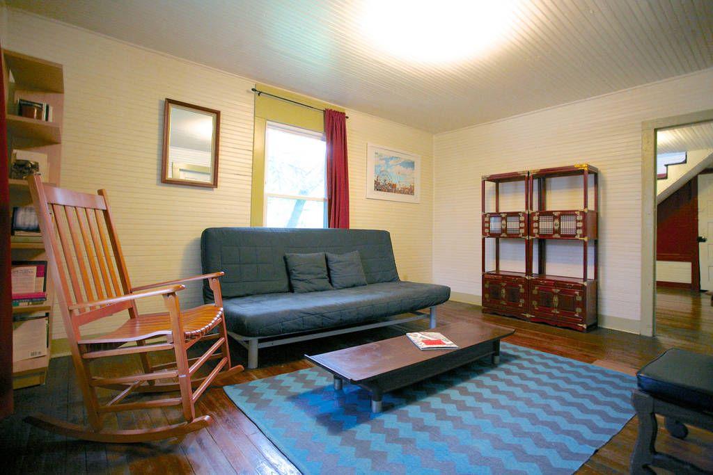 Living Room With Ikea Beddinge Lovas Queen Size Sleeper Futon