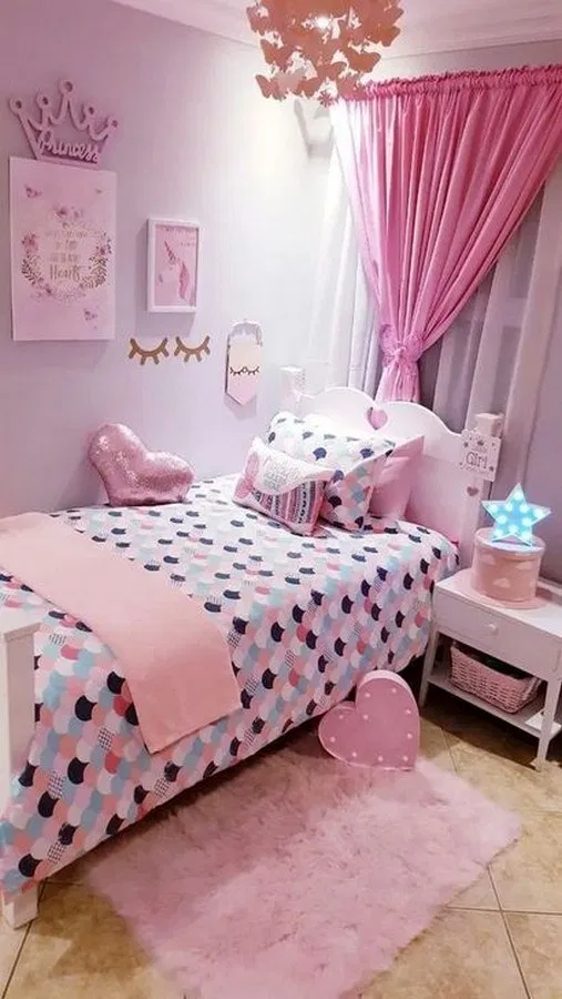 79 Creative Kids Bedroom Decorating Ideas Pink Bedroom Design Little Girl Bedrooms Girly Bedroom