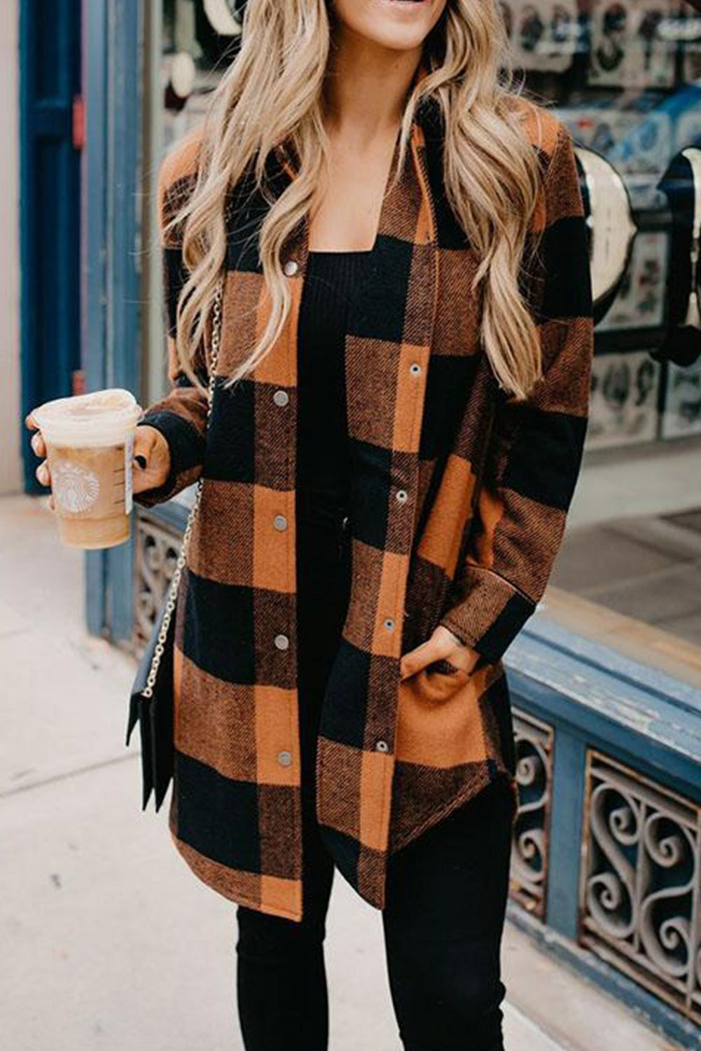 Women's long sleeve plaid