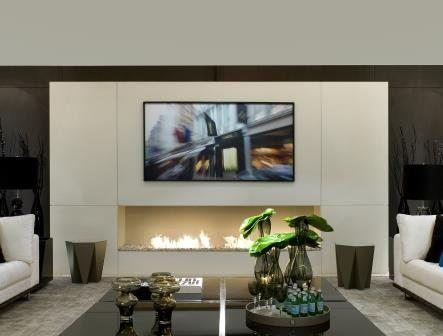 das kamin tv set ein echter trend bei der innenausstattung wie aber sollte man einen fernseher neben oder ber einem kamin ethanol brenner installieren - Bcherregal Ideen Neben Kamin
