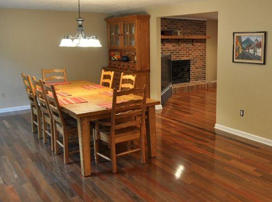 Dining Room With Brazilian Walnut Flooring Floor Design