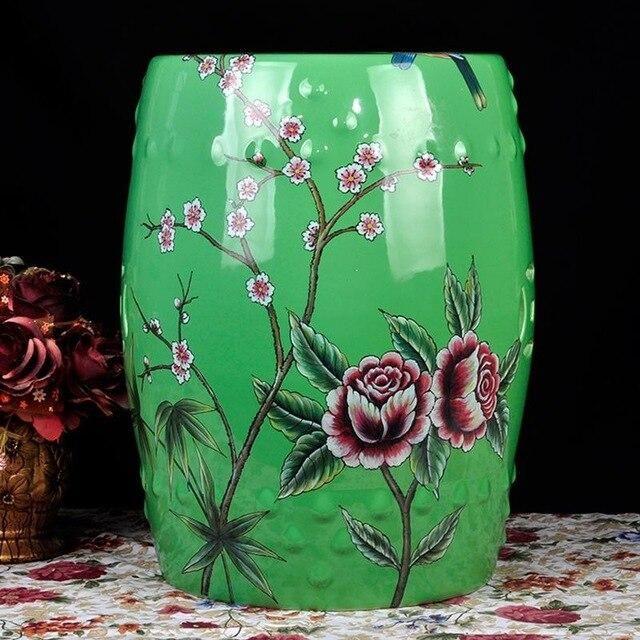 Chinese Ceramic Drum Stool Shoes Dressing Stool Porcelain