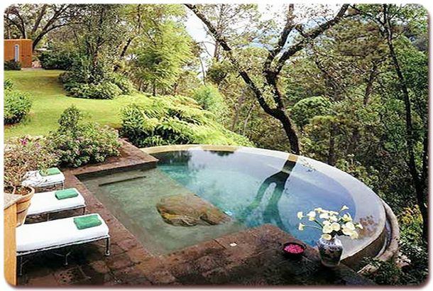 Luxurious Spas Hot Tubs 14 Small Backyard Design Sloped Backyard Backyard Design
