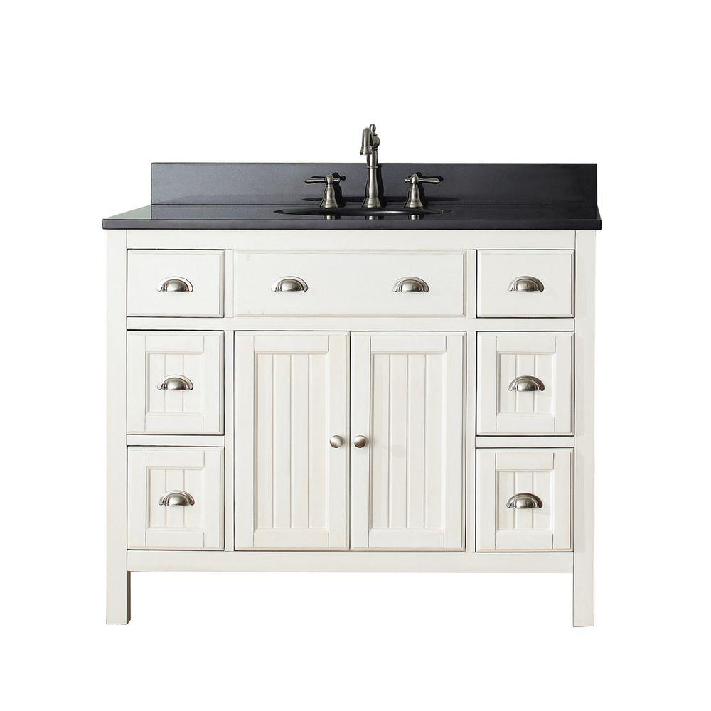 Ariel Hamlet 43 In Bath Vanity In Grey With Quartz Vanity Top In White With White Basin F043s Wq Vo Gry The Home Depot Single Bathroom Vanity Single Sink Bathroom Vanity Vanity
