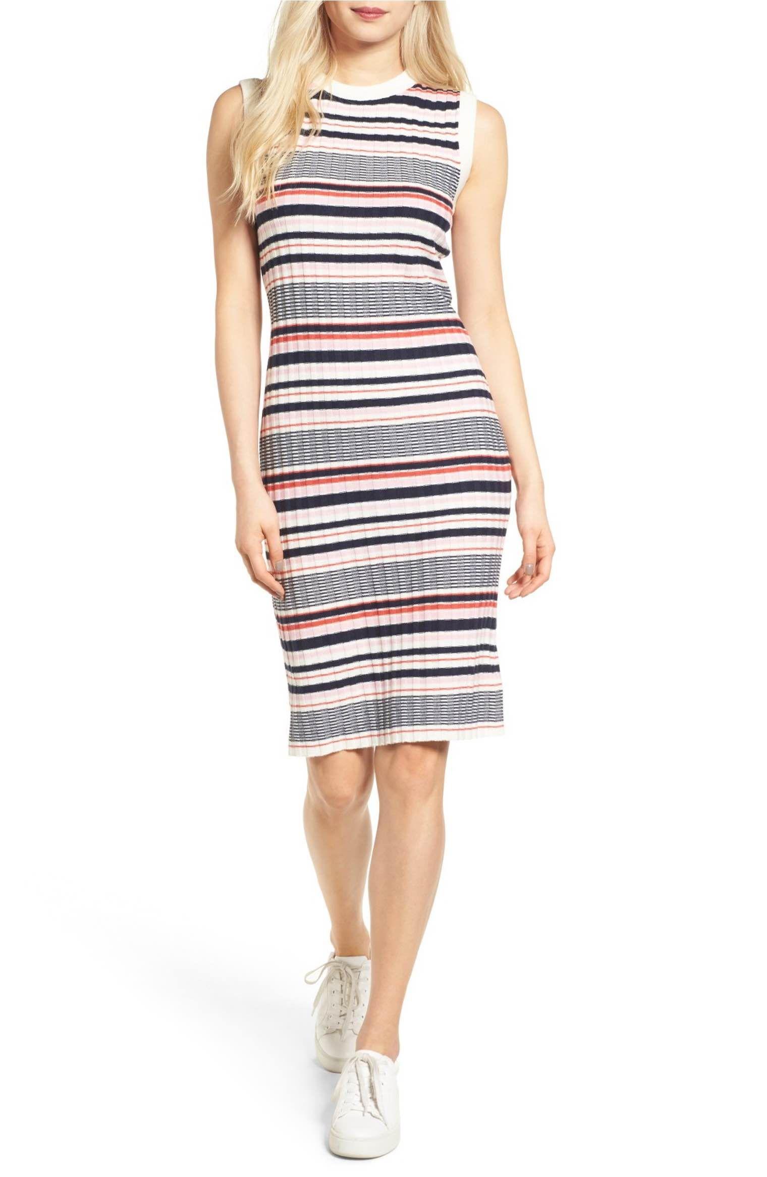 Cupcakes And Cashmere Walton Stripe Knit Dress Nordstrom Striped Knit Dress Knit Dress Striped Knit [ 2332 x 1520 Pixel ]