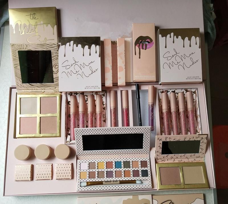 5532cc69ae 11pcs Makeup Set Big Gift Box Kit Full Collection Vacation Limited ...