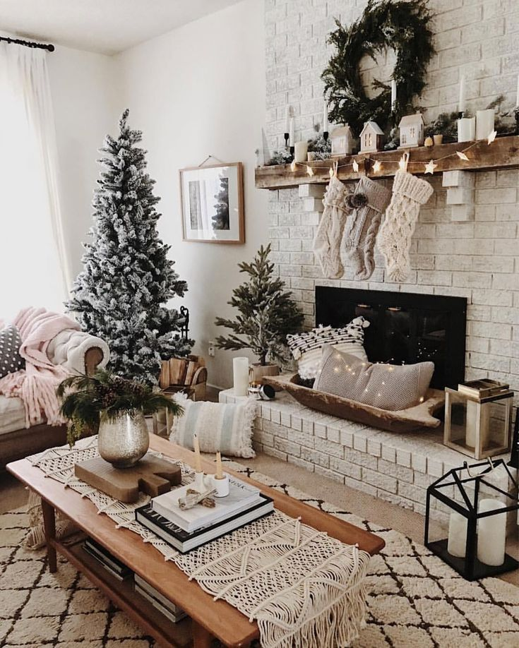 Photo of Christmas living room neutral