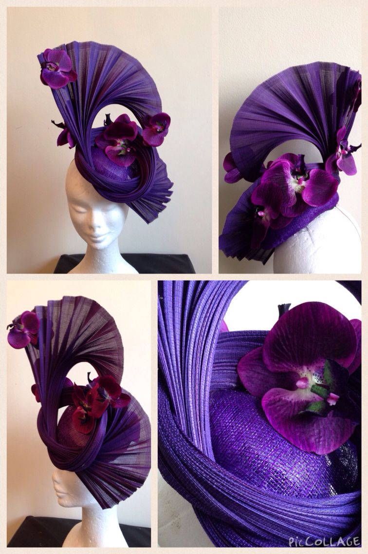 1126dc92ae334 Purple Jinsin and silk orchid fascinator  millinery  fascinator  jinsin   races  ascot